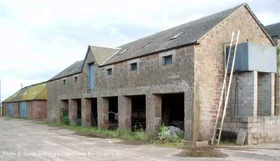 recent picture showing old Balskelly farm buildings
