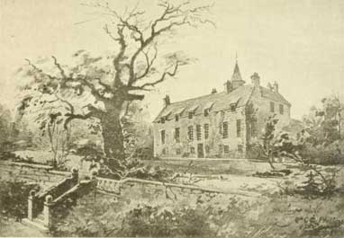 sketch of Blackness House 1700