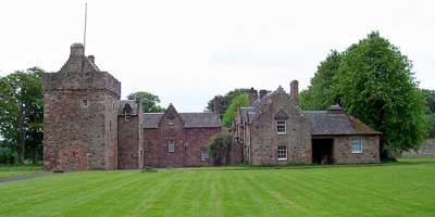 a photograph of the castle at Hunterston