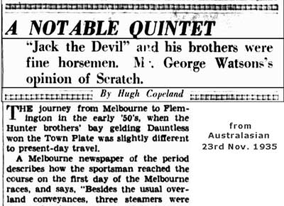 1935 newspaper article about hunters