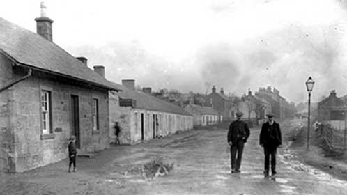 miners cottages at Muirkirk