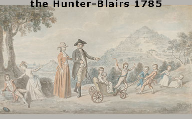 painting of the Hunter-Blairs