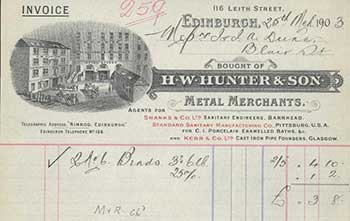 H. W. Hunter, Edinburgh 1903