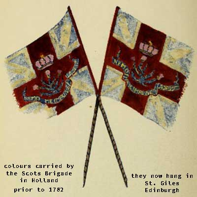 flags of the scots brigade in holland